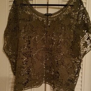 LANE BRYANT CROCHET TOP PERFECT TO WEAR OVER A TEE